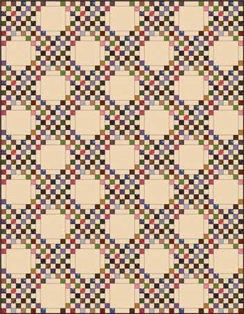 Triple Irish Chain Quilt - Checkerboard
