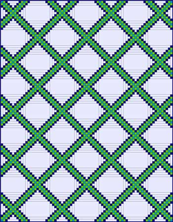 Triple Irish Chain with an expanded quilt block