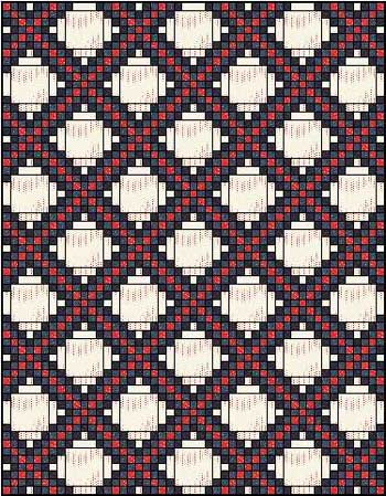 Triple Irish Chain Quilt - straight set