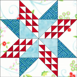 A second Twinkling Star quilt block design