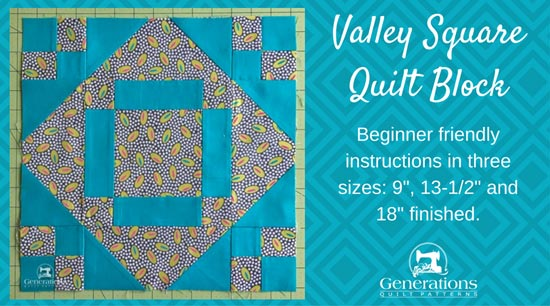 Valley Square quilt block tutorial begins here.