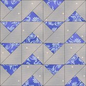 Wild Waves quilt block